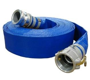 Blue Layflat PVC Water Discharge Hose